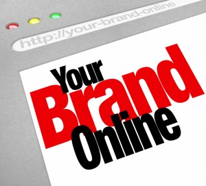 Your Brand Online Words Website Screen Internet